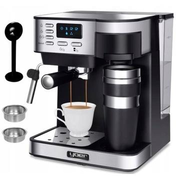 Ekspres do kawy ciśnieniowo-przelewowy Yoer