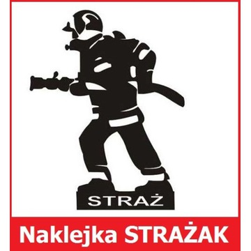Strażak - naklejka na auto (5+1 gratis)
