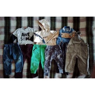 Ubranka dla chłopca 86-92 (50 sztuk) + 6 par butów
