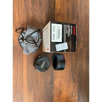 Obiektyw Canon 50mm 1.2L + filtr UV mało używany