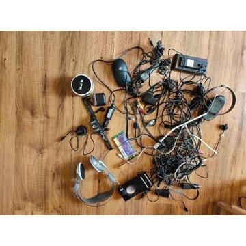 Kamerki, słuchawki bezprzewodowe, kable, myszki.