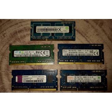 Pamięć RAM 12 GB DDR3L 1.35V, 2 GB DDR3 1,5 V LAPT