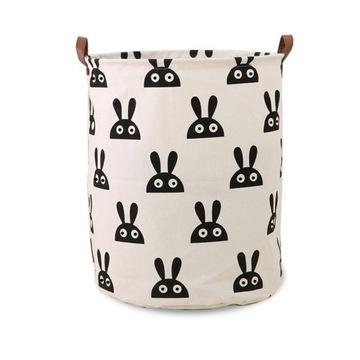 Pojemnik na zabawki kosz, worek na pranie króliki