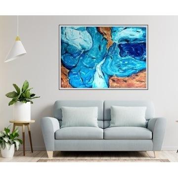 DIANA ART obraz abstrakcja  BŁĘKITNA LAGUNA