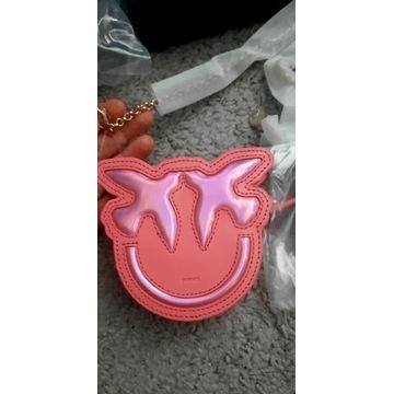 Pinko torebka portfel rozowa pink ptaszki