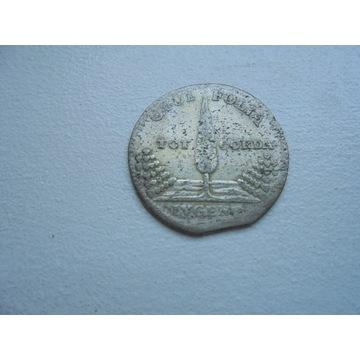 AUGUST II MOCNY CYPRYS 1727 DWUGROSZ