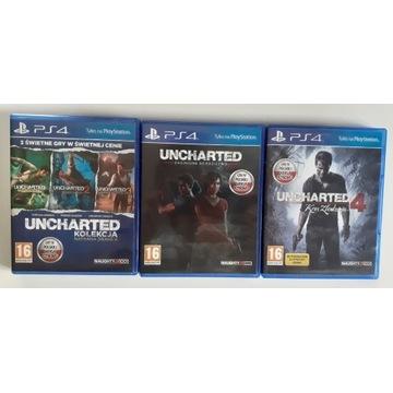 Zestaw gier: Seria gier Uncharted PS4