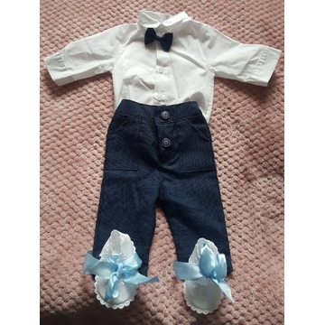 Koszulo-body,spodnie,muszka,buciki