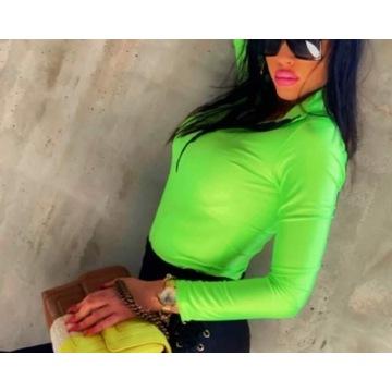 Body neon zielony zamek O'la Bianka