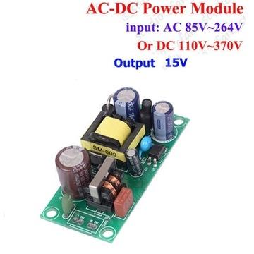 Zasilacz impulsowy 15V 0.8 A Freq. 20-65 kHz