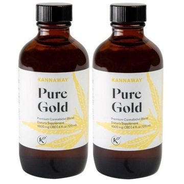 Olej konopny CBD Kannaway Pure Gold New - 2 szt.