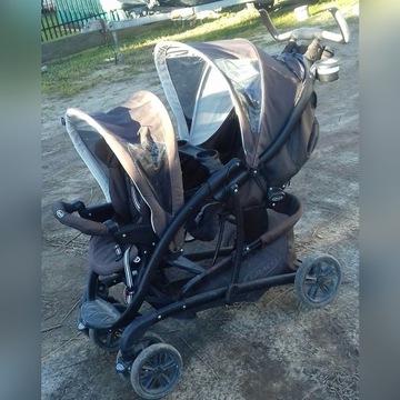 Podwojny blizniaczy rok po roku wózek Graco