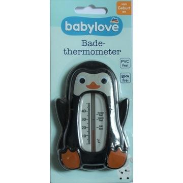 Termometr kąpielowy Babylove Pingwinek czarny