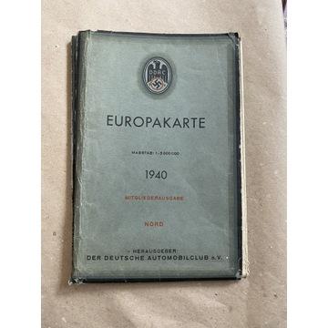Mapa Europy 1940