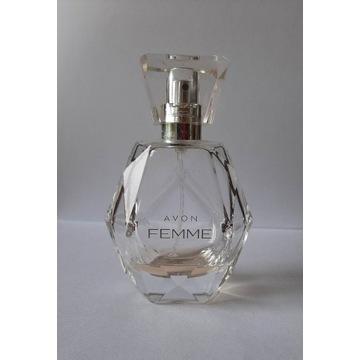 Pusta buteleczka po perfumie Femme by Avon 50ml