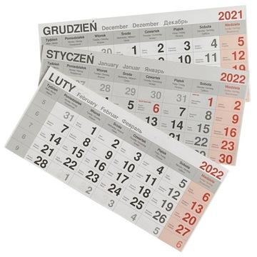 Kalendaria do kalendarzy trójdzielnych 2022