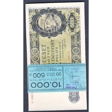 PACZKA BANKOWA 500 ZŁ. GÓRAL 1940