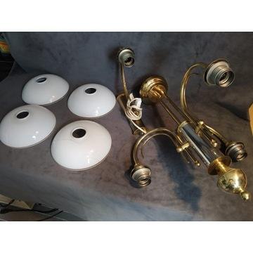 Zestaw oświetlenia żyrandol i kinkiet (użwany)