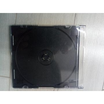 Pudelko opakowanie cd dvd slim czarne tray