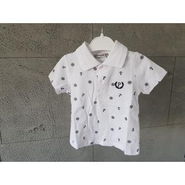 Koszulka polo chłopiec kotwice lato wesele