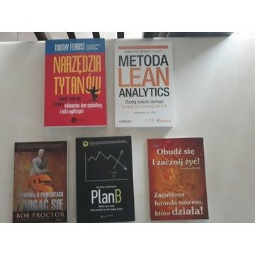 książki biznesowe i motywacyjne  kpl - jak nowy