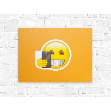 wesoły plakat 30x40, emotikon plakat na ścianę A3