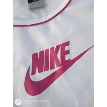 Nike Dri-fit koszulka t-shirt biała siłownię