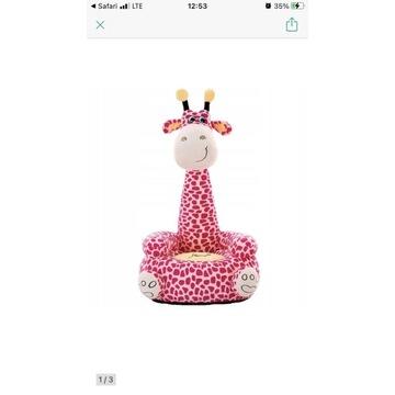 Żyrafa fotel siedzisko gugu różowa
