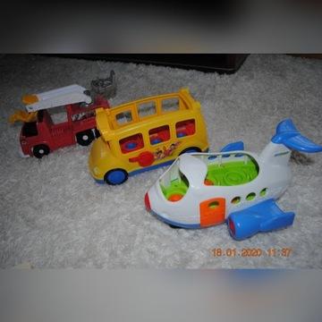little people samolot + autobus + straż pożarna