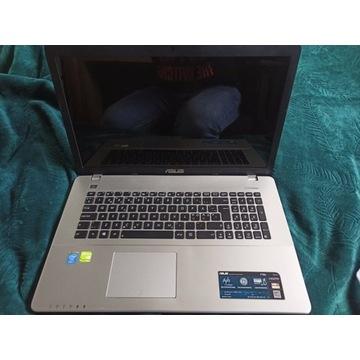 Laptop ASUS F750JB i7 17,3'' GT740M uszkodzony