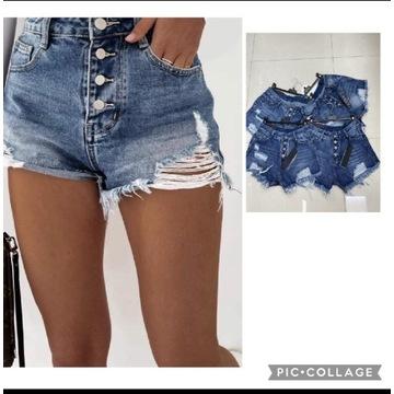 Spodenki, szorty jeans R. XS
