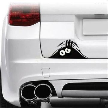 Naklejka na samochód auto czarna ładna duch duszek