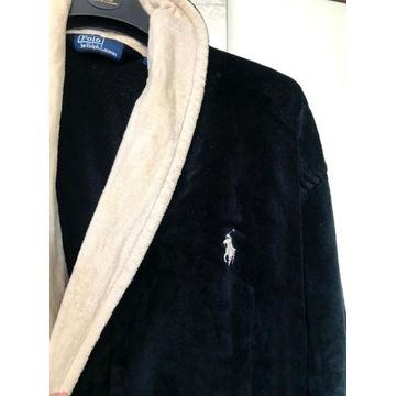 Szlafrok długi czarny Ralph Lauren One Size