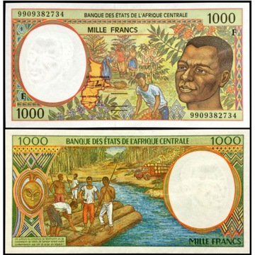 Afryka Centralna 1000 Francs 1999 UNC