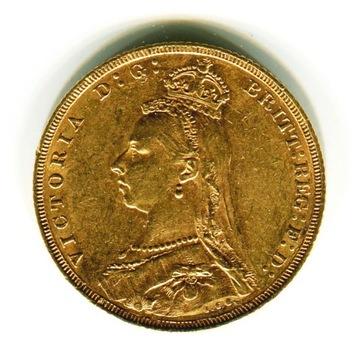 Złoty Suweren- Królowa Wiktoria Great Britain Gold