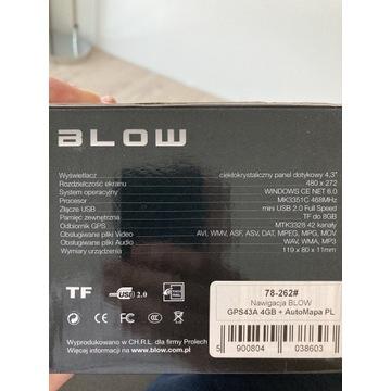 Nawigacja Blow GPS34A 4GB+auto mapa nierozpakowana