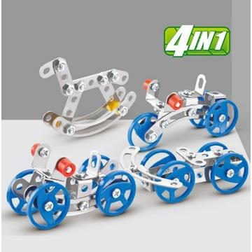 4 w 1 metalowy pojazd zabawkowy konstruktor