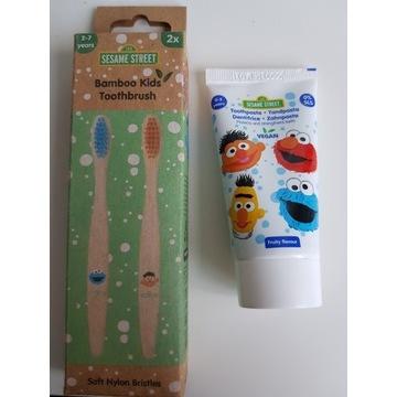 Czyszczenie zębów-dzieci (pasta + 2x szczoteczki)