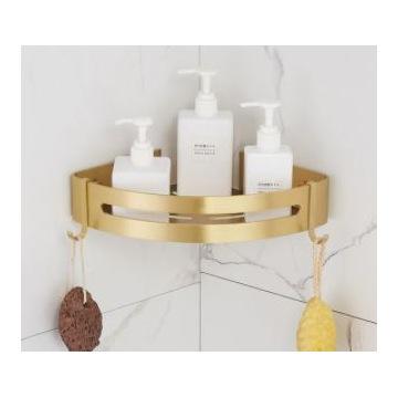 Półka łazienkowa narożna złota - półka 2