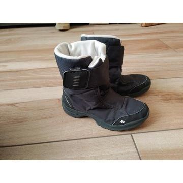 buty zimowe, śniegowce - jak nowe! rozm. 35