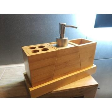 Zestaw bambusowy akcesoriów do łazienki