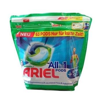 Niemieckie kapsułki do prania Ariel Sport 63szt