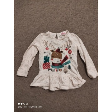 Bluza dziecięca niemowlęca tunika z długim rękawem