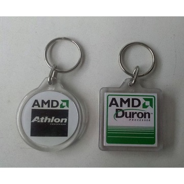 Oryginalne breloczki AMD Duron + Athlon Processor