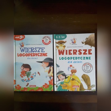 Wiersze logopedyczne dla dzieci 3-5 lat 2 książki