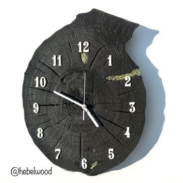 Zegar ścienny drewno żywica