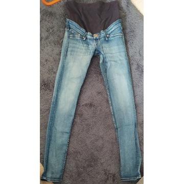 spodnie jeansowe ciążowe H&M mama skinny 36