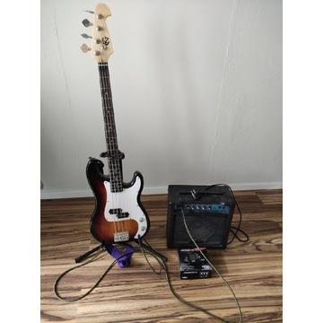 Gitara basowa pełny zestaw