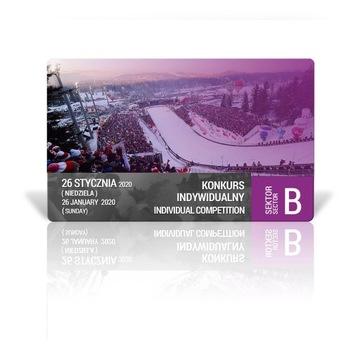 Skoki Zakopane, bilet/bilety, 26.01.2020, sektor B