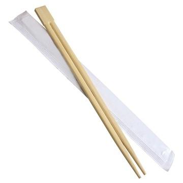 Pałeczki bambusowe 20 sztuk koperta etui sushi